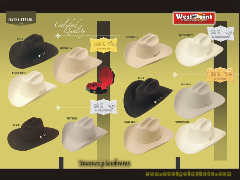 fed3c60591 West Point International Hats... Texanas... Western Hats... fieltro ...
